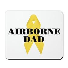Airborne Dad Ribbon Mousepad