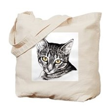 Penciled Tabby Tote Bag
