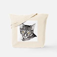 Penciled Tabby Tote Bag