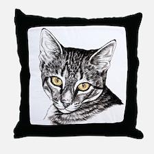 Penciled Tabby Throw Pillow