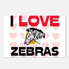 I Love Zebras Postcards (Package of 8)