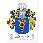 Mercurio Family Crest Small Poster