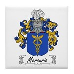 Mercurio Family Crest Tile Coaster