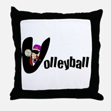 Kid's Volleyball Throw Pillow