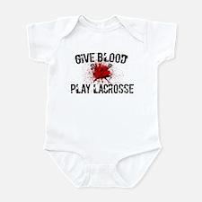 Give Blood Play Lacrosse Infant Bodysuit