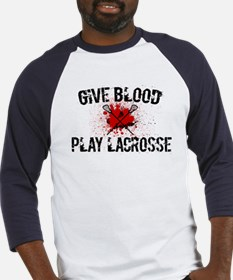 Give Blood Play Lacrosse Baseball Jersey