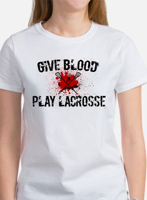 Give Blood Play Lacrosse Tee