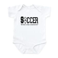Soccer, what else matters? Infant Bodysuit