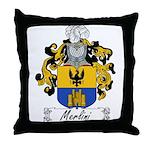 Merlini Family Crest Throw Pillow