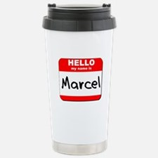 Hello my name is Marcel Stainless Steel Travel Mug