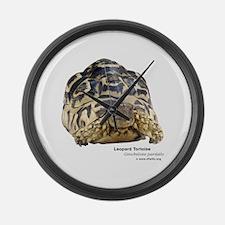 Leopard Tortoise Large Wall Clock