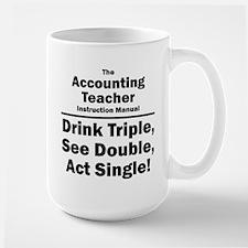 Accounting Teacher Large Mug