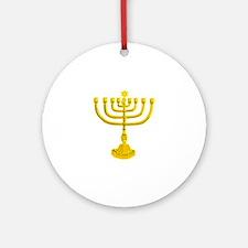 Menorah Ornament (Round)