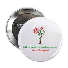 "Christmas Wish Heart 2.25"" Button"