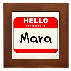 Hello my name is Mara Framed Tile