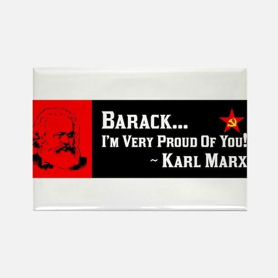 """""""Karl Marx: Proud Of Obama!"""" Magnet"""