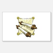 Torah Scrolls Rectangle Sticker 50 pk)