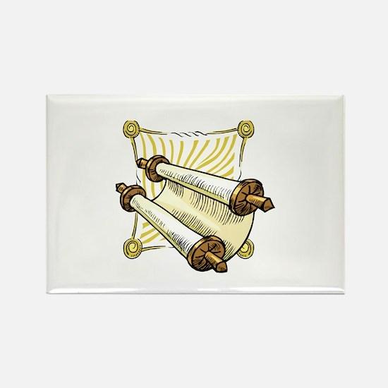 Torah Scrolls Rectangle Magnet