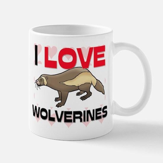 I Love Wolverines Mug