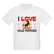 I Love Wild Horses T-Shirt