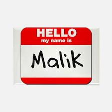 Hello my name is Malik Rectangle Magnet
