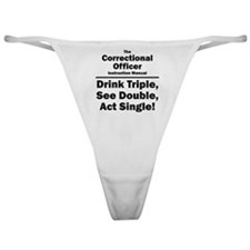 Correctional Officer Classic Thong