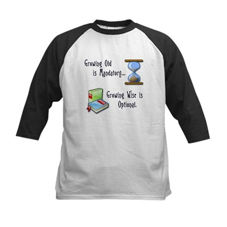 Growing Old and Wise Kids Baseball Jersey