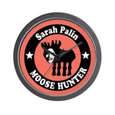 Sarah Palin Moose Hunter Wall Clock