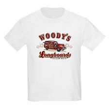 WOODIE'S LONG BOARDS Kids T-Shirt