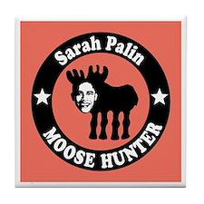 Sarah Palin Moose Hunter Tile Coaster