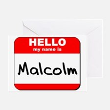 Hello my name is Malcolm Greeting Card