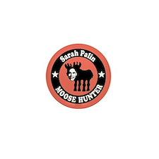 Sarah Palin Moose Hunter Mini Button