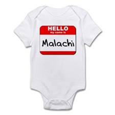 Hello my name is Malachi Infant Bodysuit