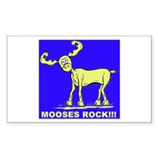 Blue MOOSES ROCK Rectangle Decal