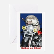 Spikes on Bikes! Greeting Card