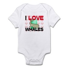 I Love Whales Onesie