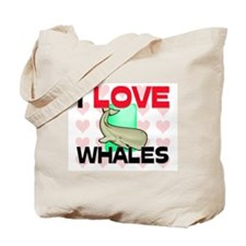 I Love Whales Tote Bag