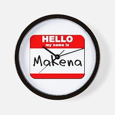Hello my name is Makena Wall Clock