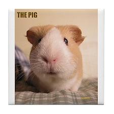 THE Pig! Tile Coaster