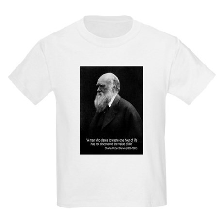 Charles Darwin Quotes Kids Light T-Shirt