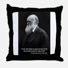 Charles Darwin Quotes Throw Pillow