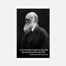 Charles Darwin Quotes Rectangle Decal