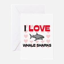 I Love Whale Sharks Greeting Cards (Pk of 10)