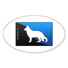 German Shepherd Oval Sticker (10 pk)