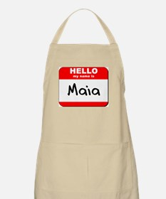 Hello my name is Maia BBQ Apron