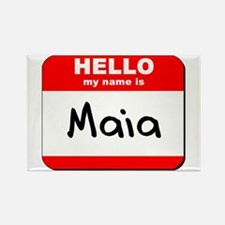 Hello my name is Maia Rectangle Magnet
