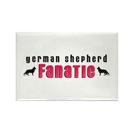 German Shepherd Fanatic Rectangle Magnet