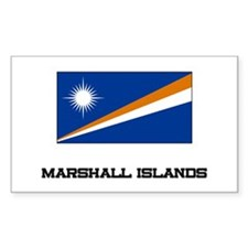 Marshall Islands Flag Rectangle Decal