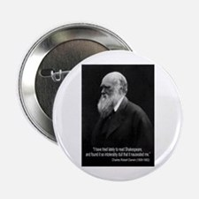 """Charles Darwin Quotes 2.25"""" Button"""