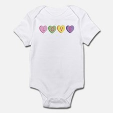 Cute Conversation hearts Infant Bodysuit